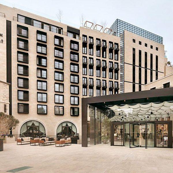 מלון ישרוטל אוריינט ירושלים. עבודות פנים בשטחי ציבור, לובי, אולמות, חדר אוכל, ספא, בנין מגורים צמוד למלון ועוד