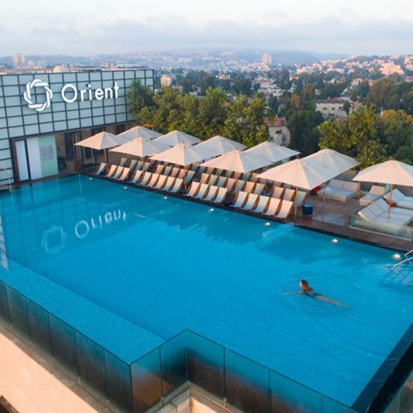 Isrotel Orient Hotel Jerusalem. Interior works over Loby, SPA, Dining and Residental building attached