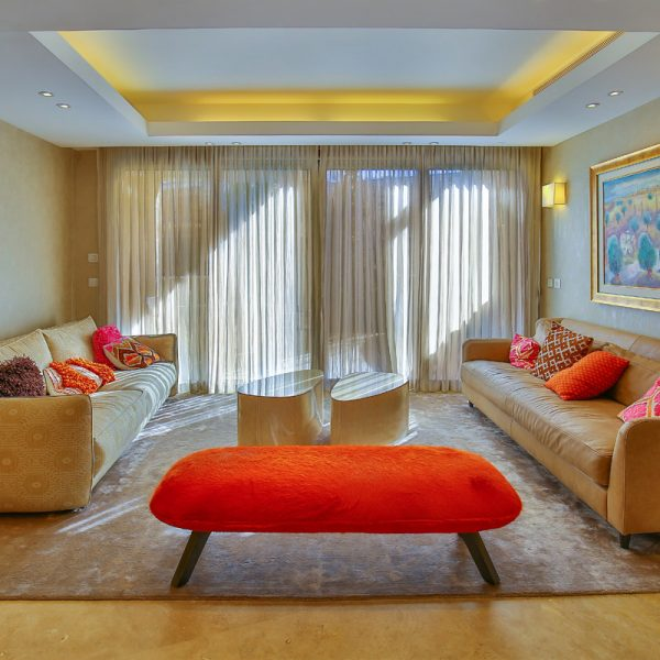 Garden apartment in the David Crown project. Design: Sharonne Turen