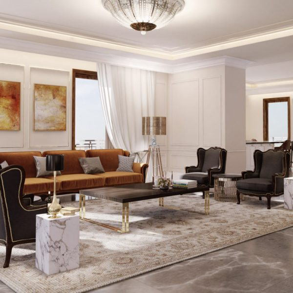 Jerusalem Estate at Schneller. Interior works in residential and comercial building over 200 luxurious apartments. GC: ISA Zuravin Holdings