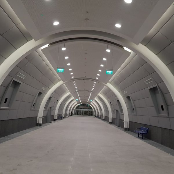 HA'UMA Railway Staytion. Floor and tiles work in tunnels and platforms over 8000 SQM. GC: Electra