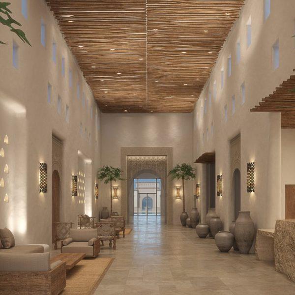 מלון ישרוטל קדמא שדה בוקר. כלל עבודות הפנים והגמר במלון על פני 164 חדרים, ספא ושטחי ציבור