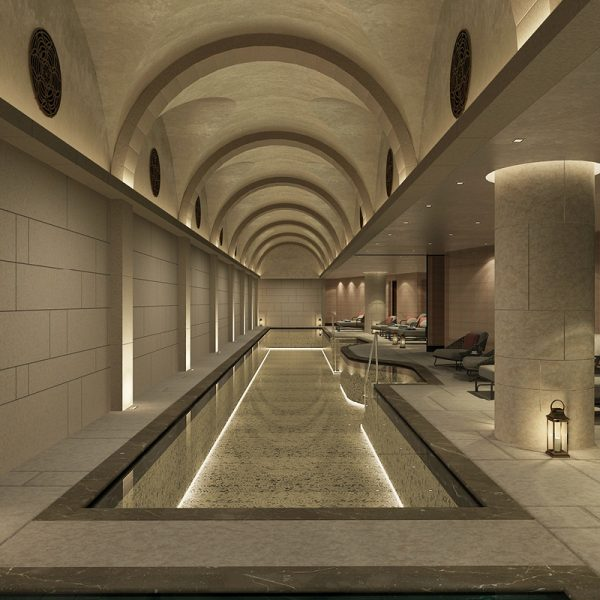 The SPA at Waldorf Astoria Jerusalem. GC for the new SPA spreading over 2000 SQM